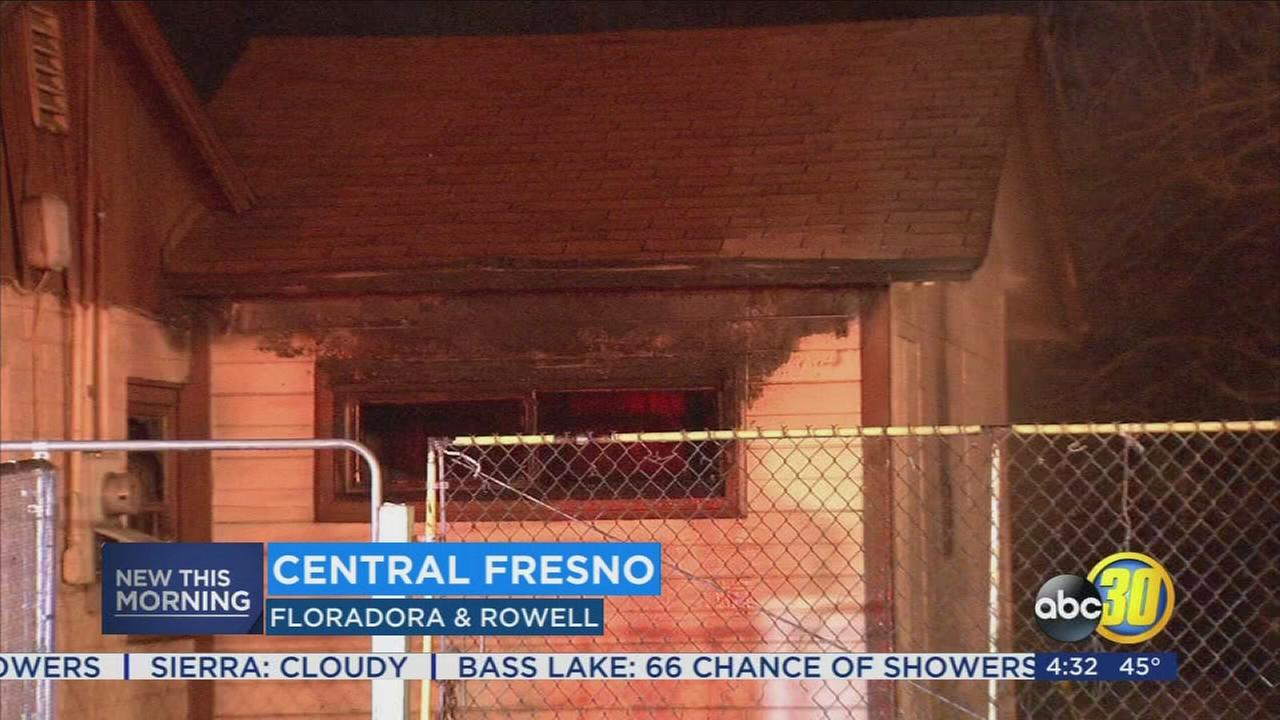 Fire officials investigating what sparked fire that damaged abandon house in Central Fresno