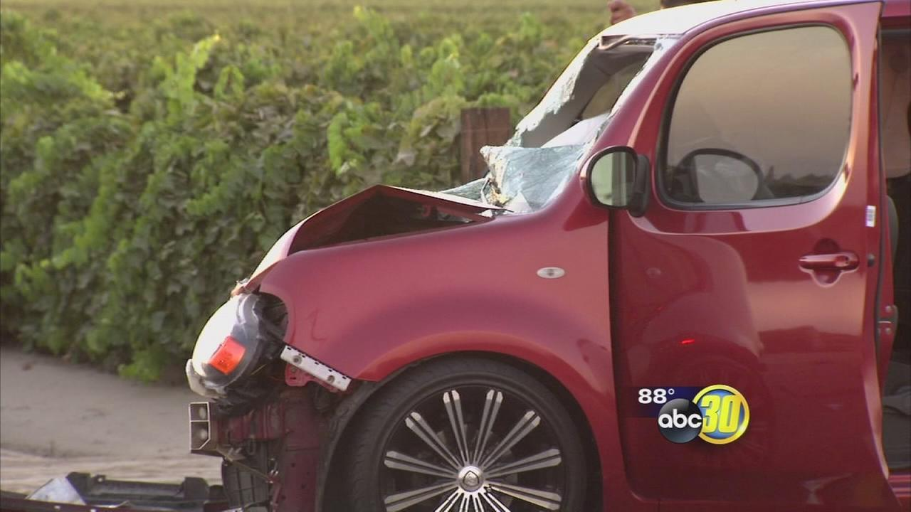 Triple fatal crash near the Fresno County town of Caruthers
