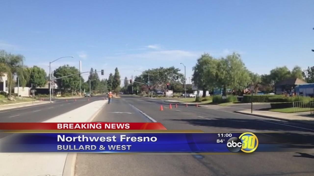 Natural gas leak on West at Bullard in Northwest Fresno