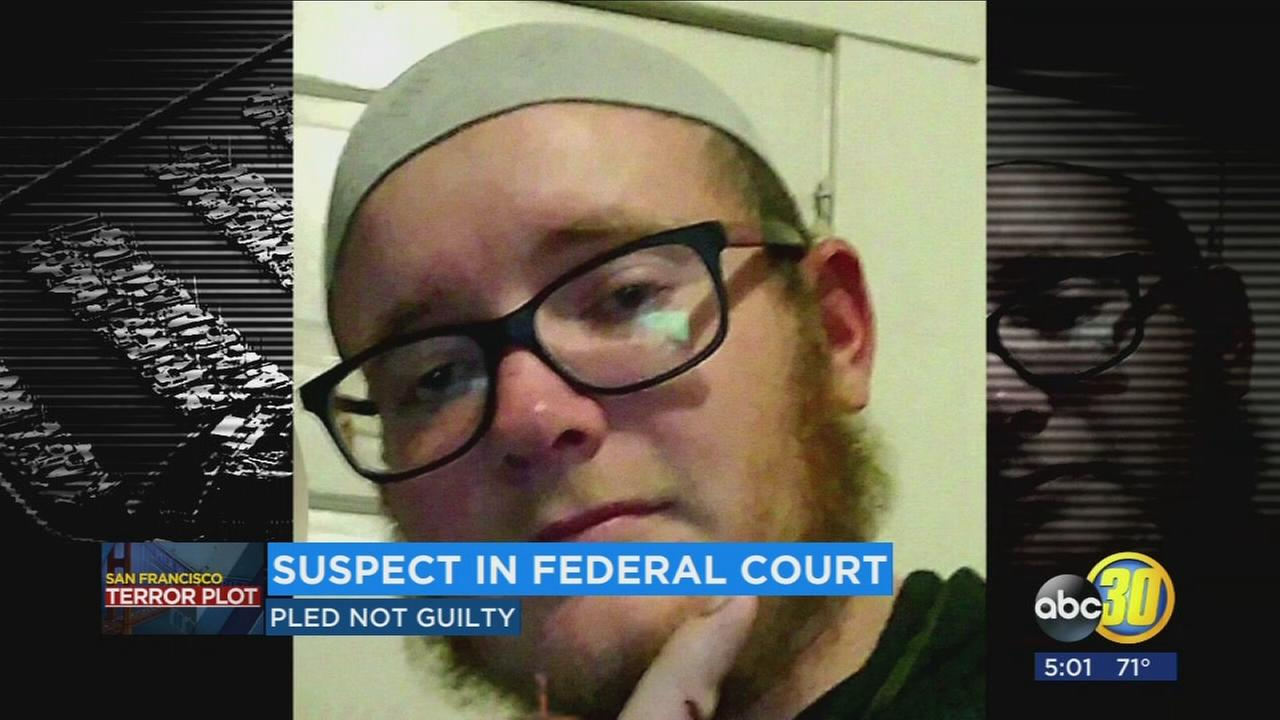 Pier 39 terror plot suspect returns to court, pleads not guilty for two federal charges