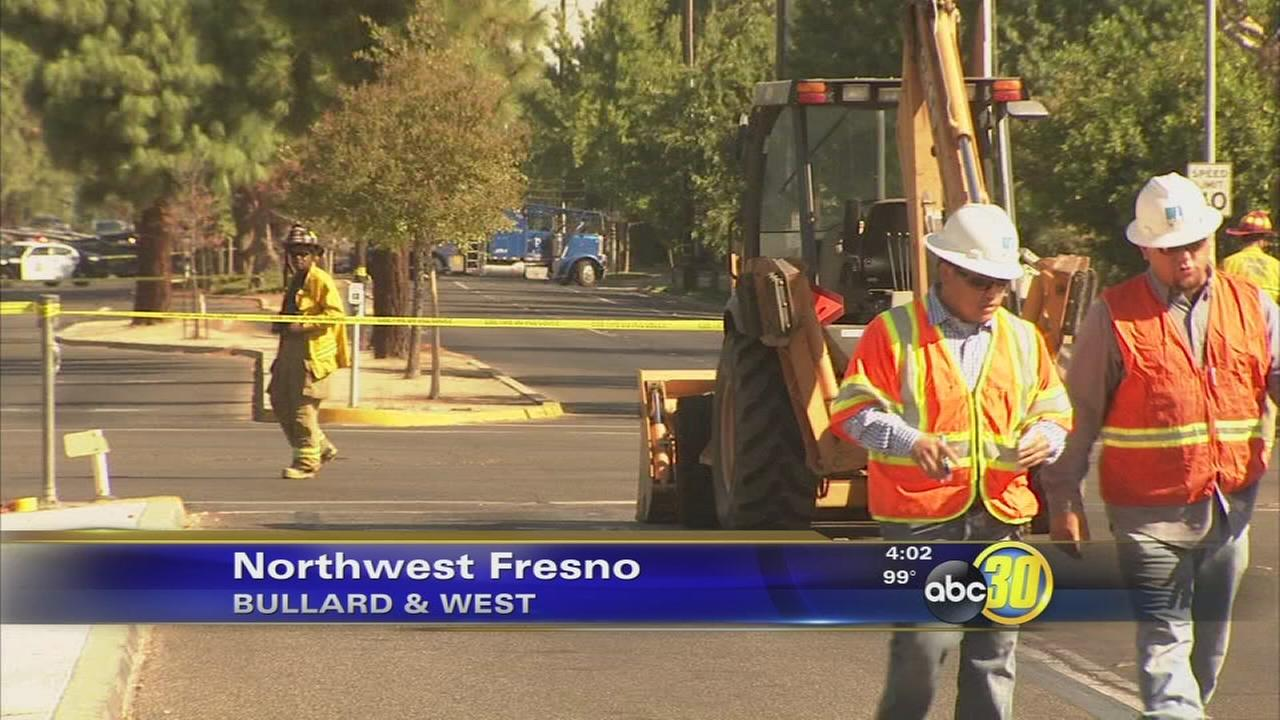 Natural gas leak fixed in Northwest Fresno