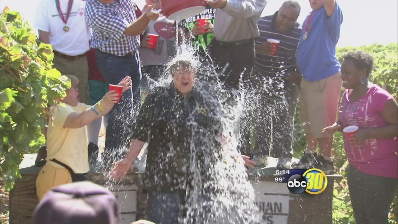 Fresno County Sheriff Margaret Mims takes Ice Bucket Challenge
