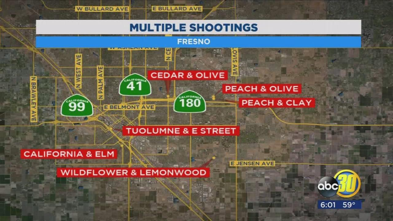 Police address string of shootings throughout Fresno