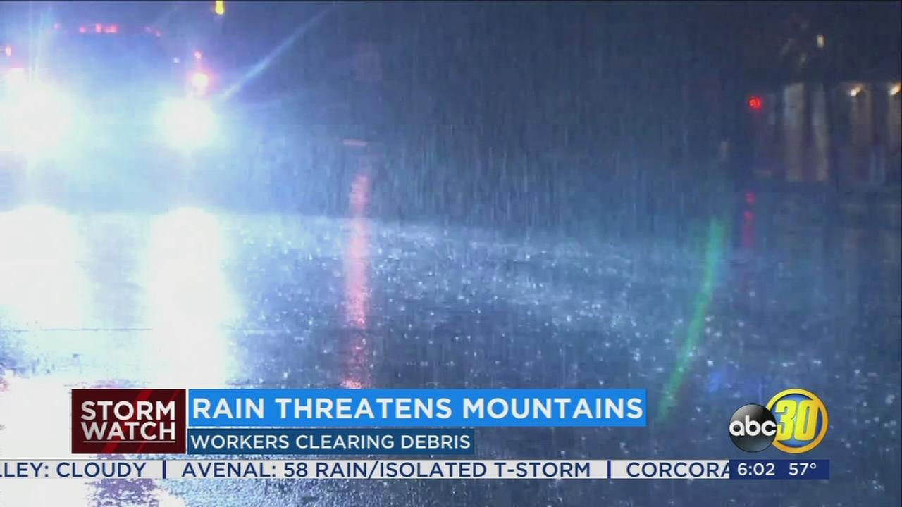 The much needed rain moving through the Valley also posing some risks for residents