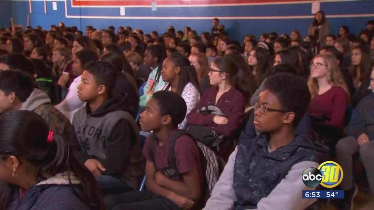 Merced middle school students taking on Rachels Challenge to fight against bullying