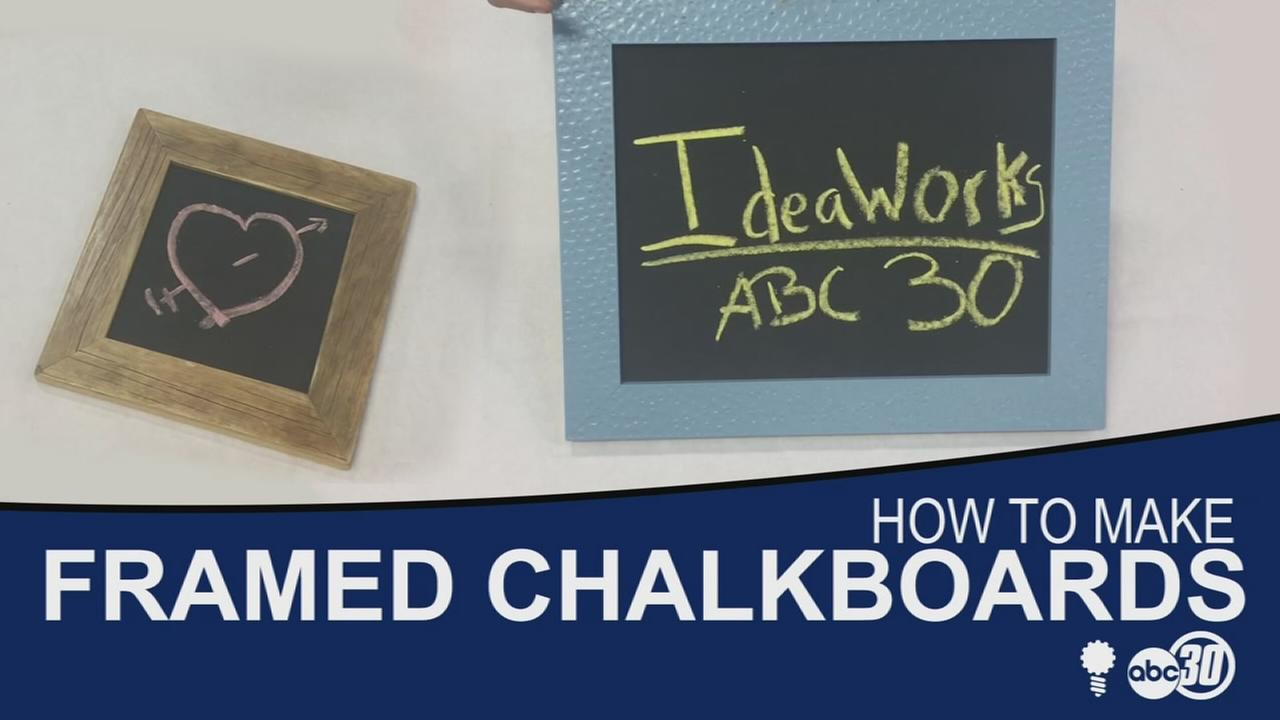 How to make framed chalkboards