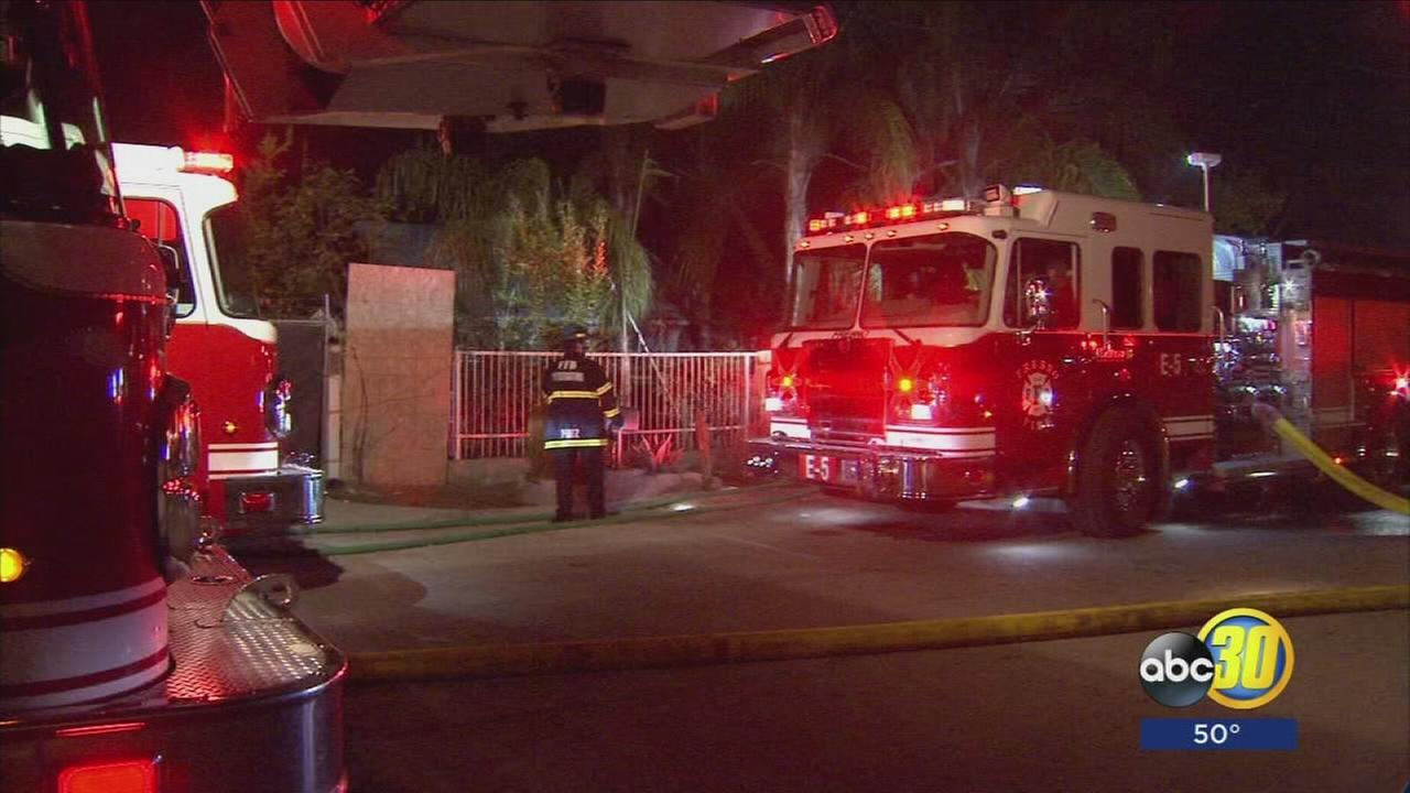 6 people displaced after house fire in Central Fresno