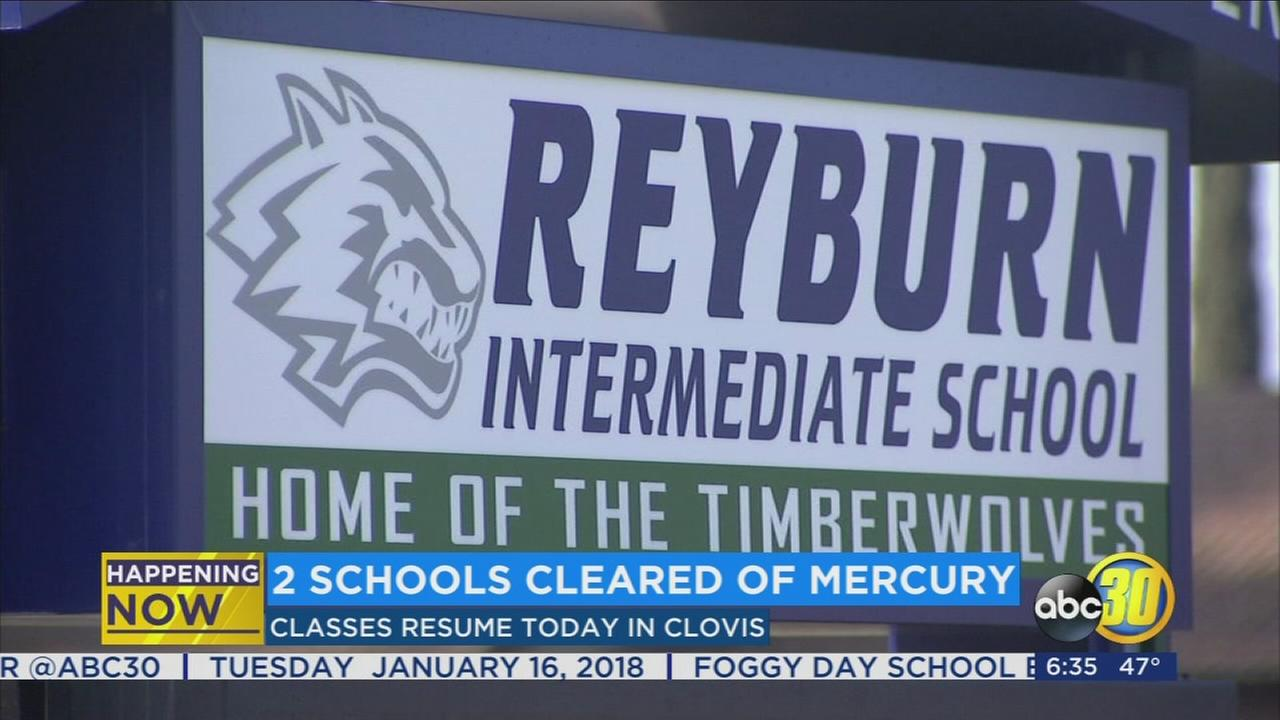 All clear given to students and teachers of 2 Clovis schools after mercury scare