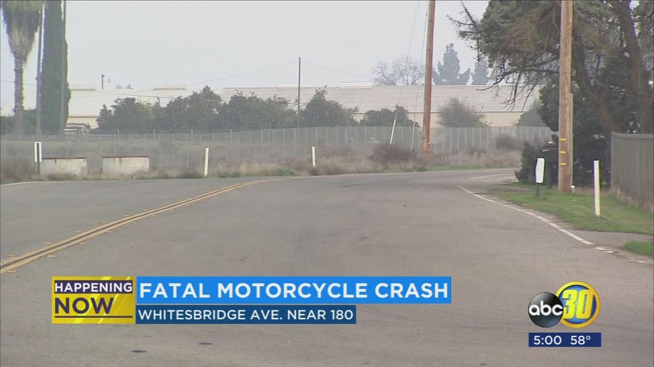Motorcycle rider dies in crash near Highway 180 and Brawley