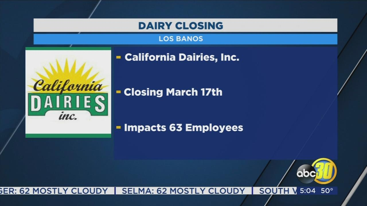 Los Banos dairy announces it will shut down in March