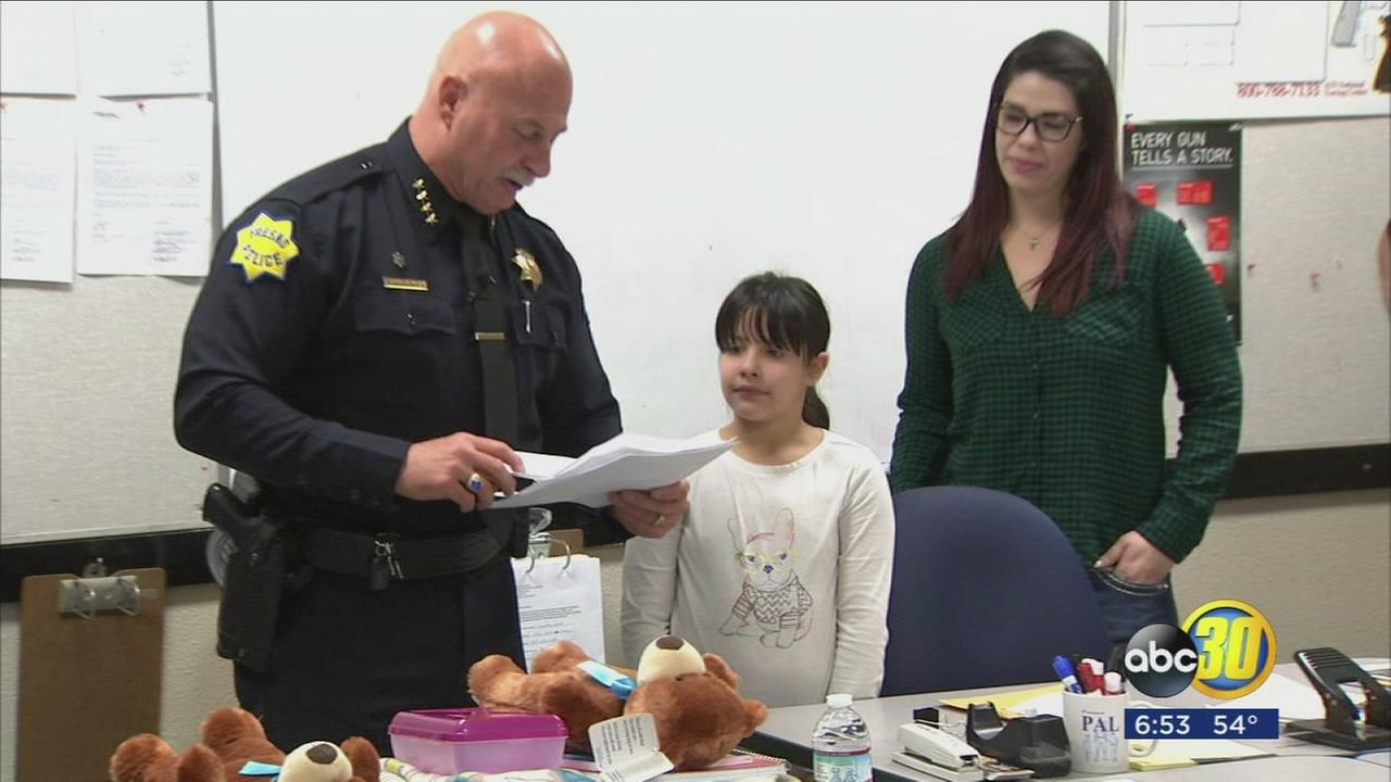 6-year-old girl writes heartwarming letter to Fresno Police