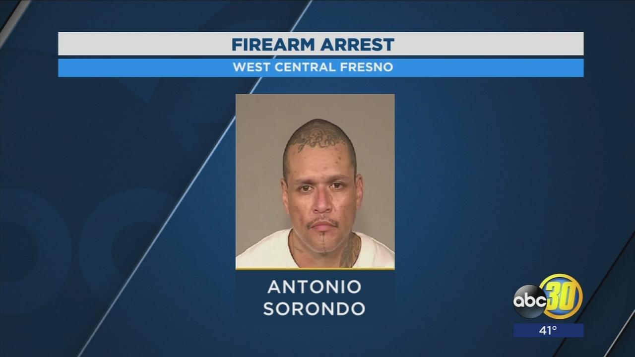 Man arrested with stolen gun in West Central Fresno