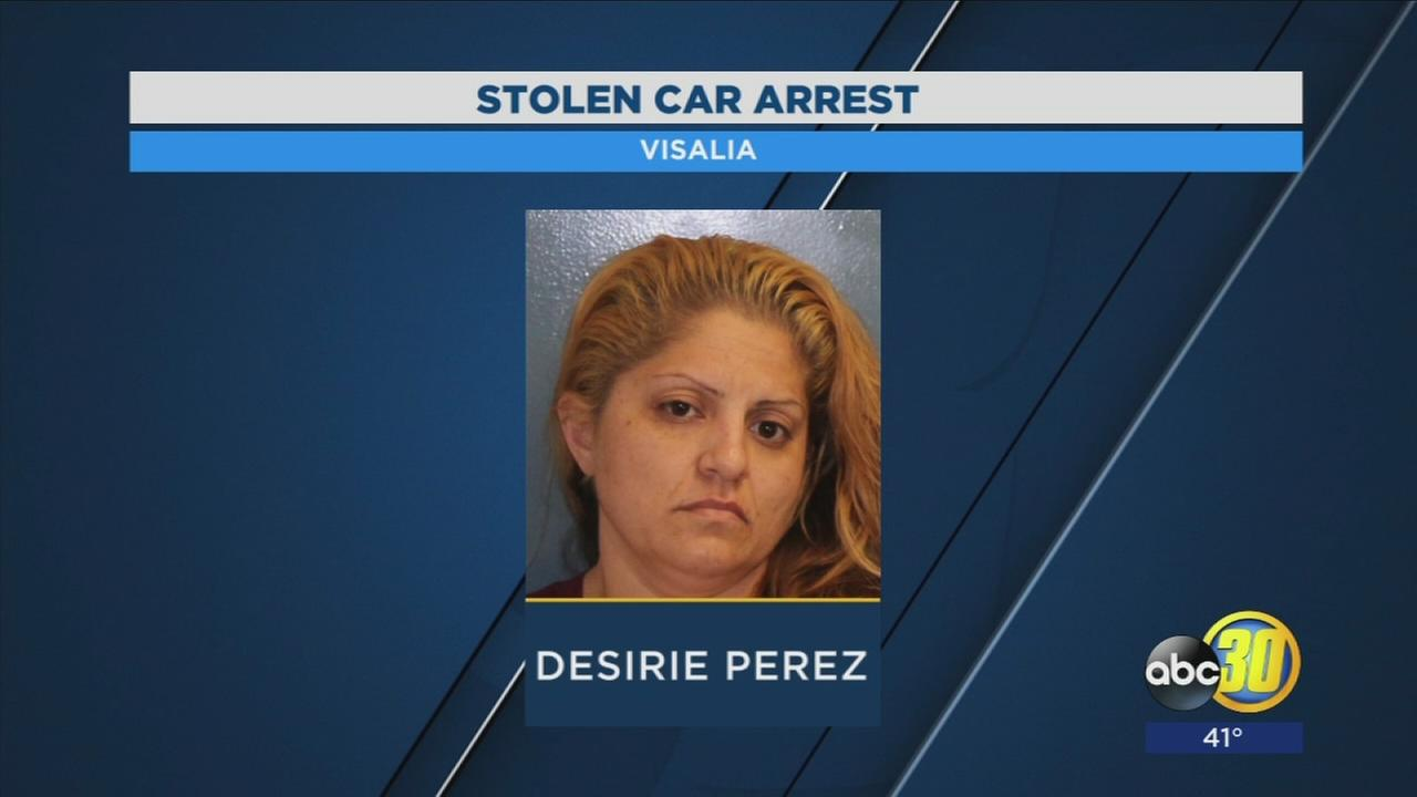 Woman arrested for possession of a stolen car, drugs