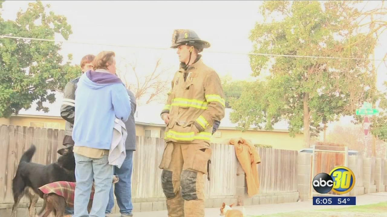 Man jumps from window to escape house fire in Central Fresno