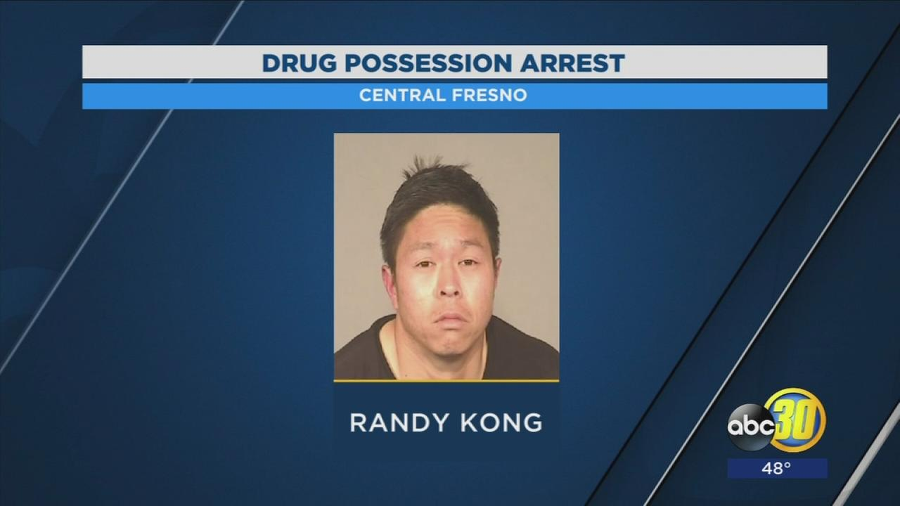 Man arrested on drug charges in Central Fresno