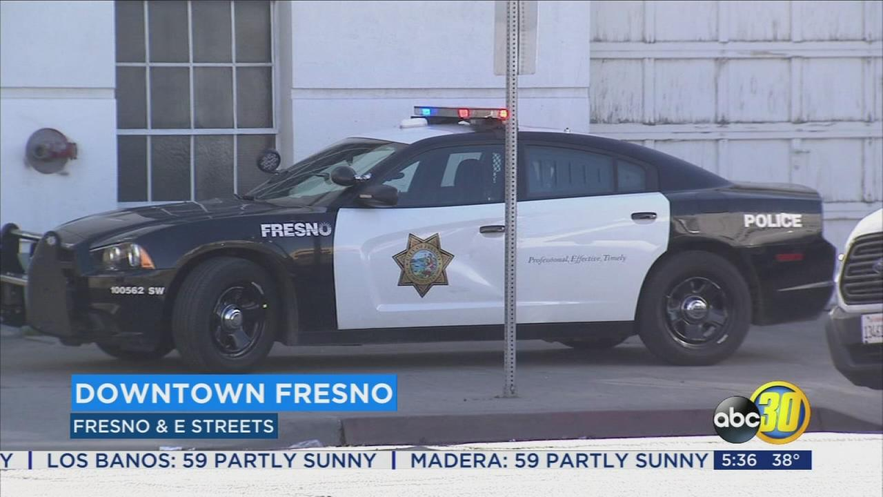 Police search for suspect who stabbed a man in Downtown Fresno
