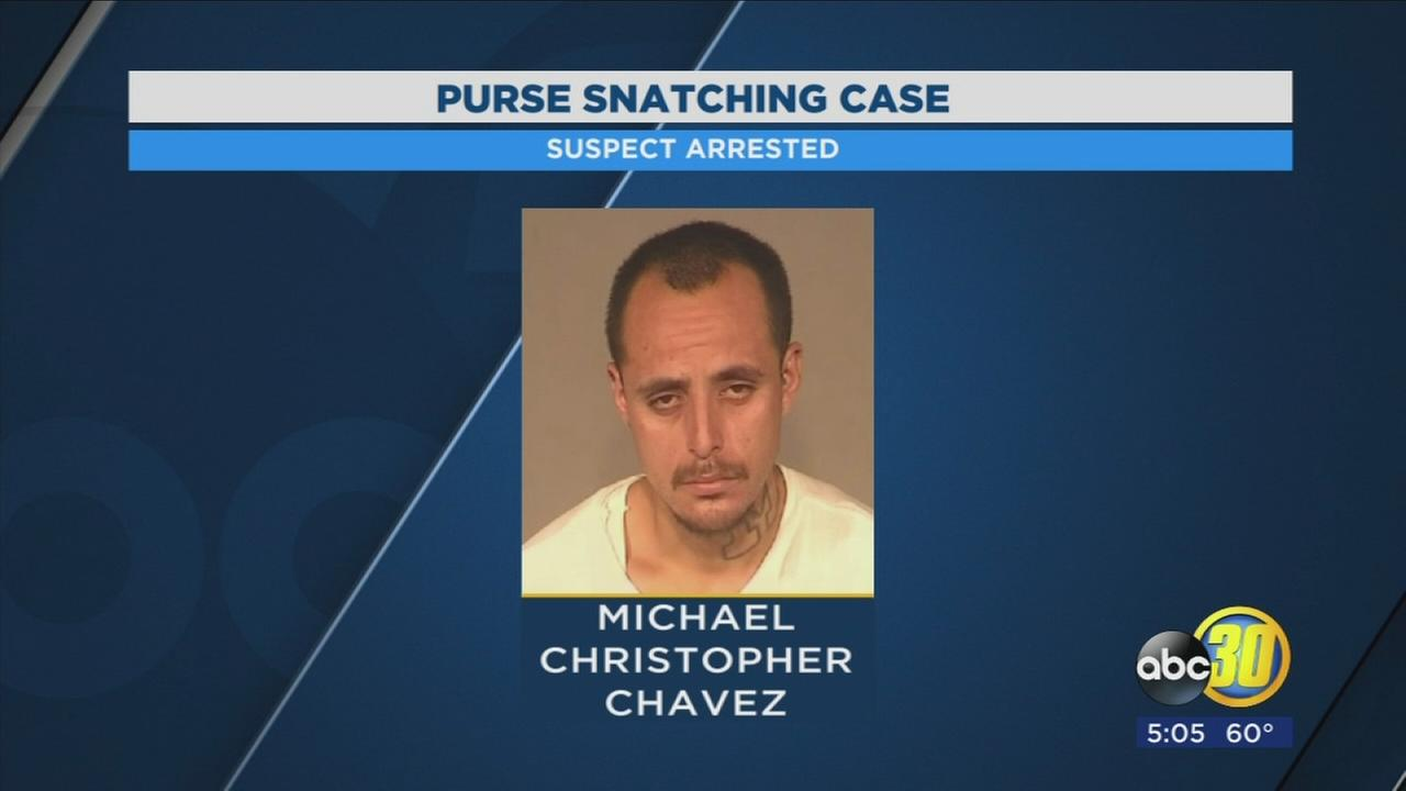 Man arrested for stealing womans purse in Southeast Fresno