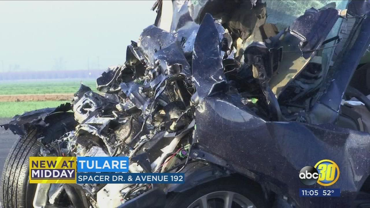 One person dead in crash south of Tulare