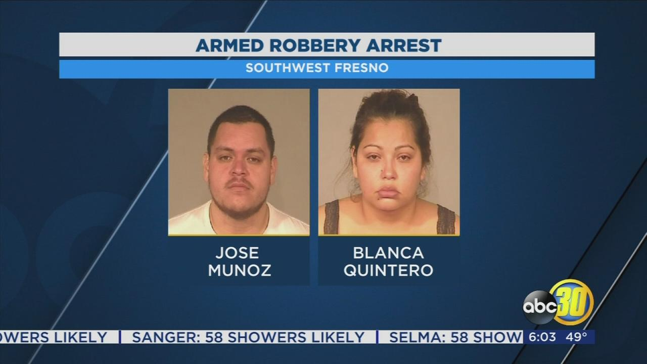Fresno couple arrested for armed robbery