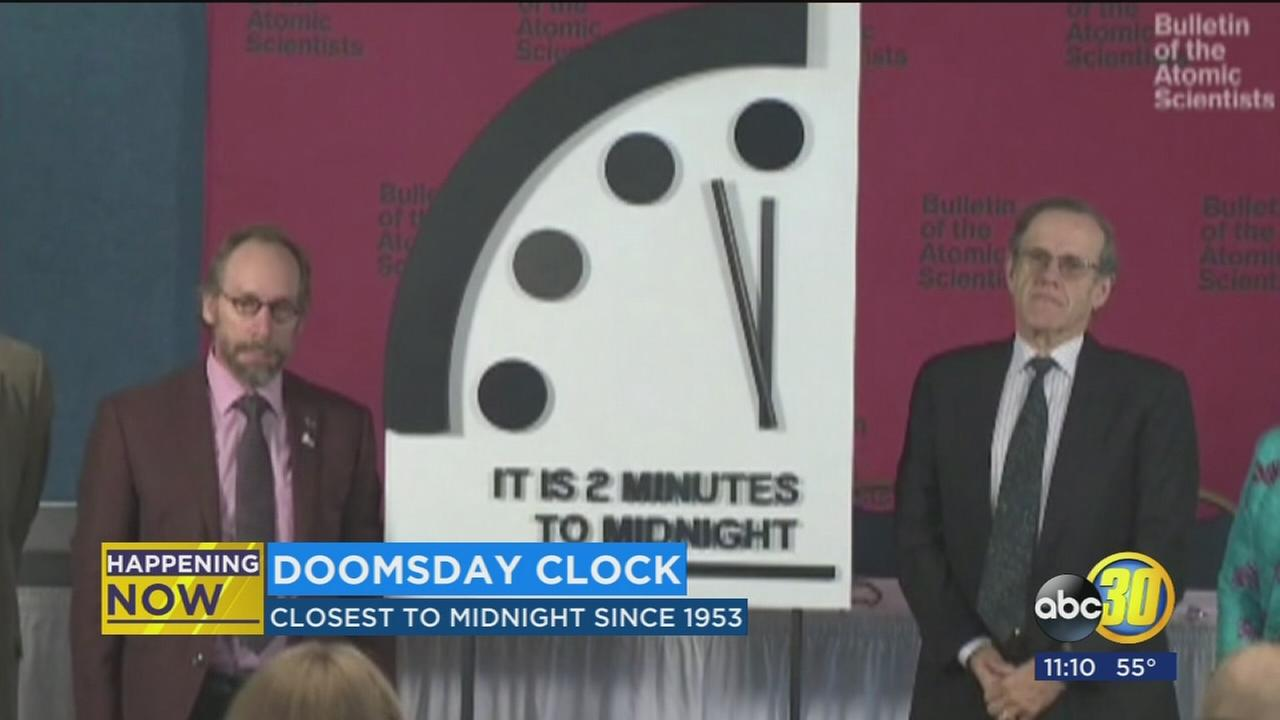 Doomsday clock moves 30 seconds closer to midnight