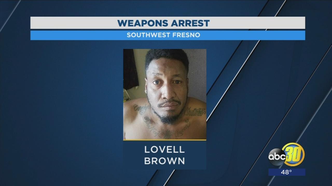 Felon arrested for possession of gun in Southwest Fresno