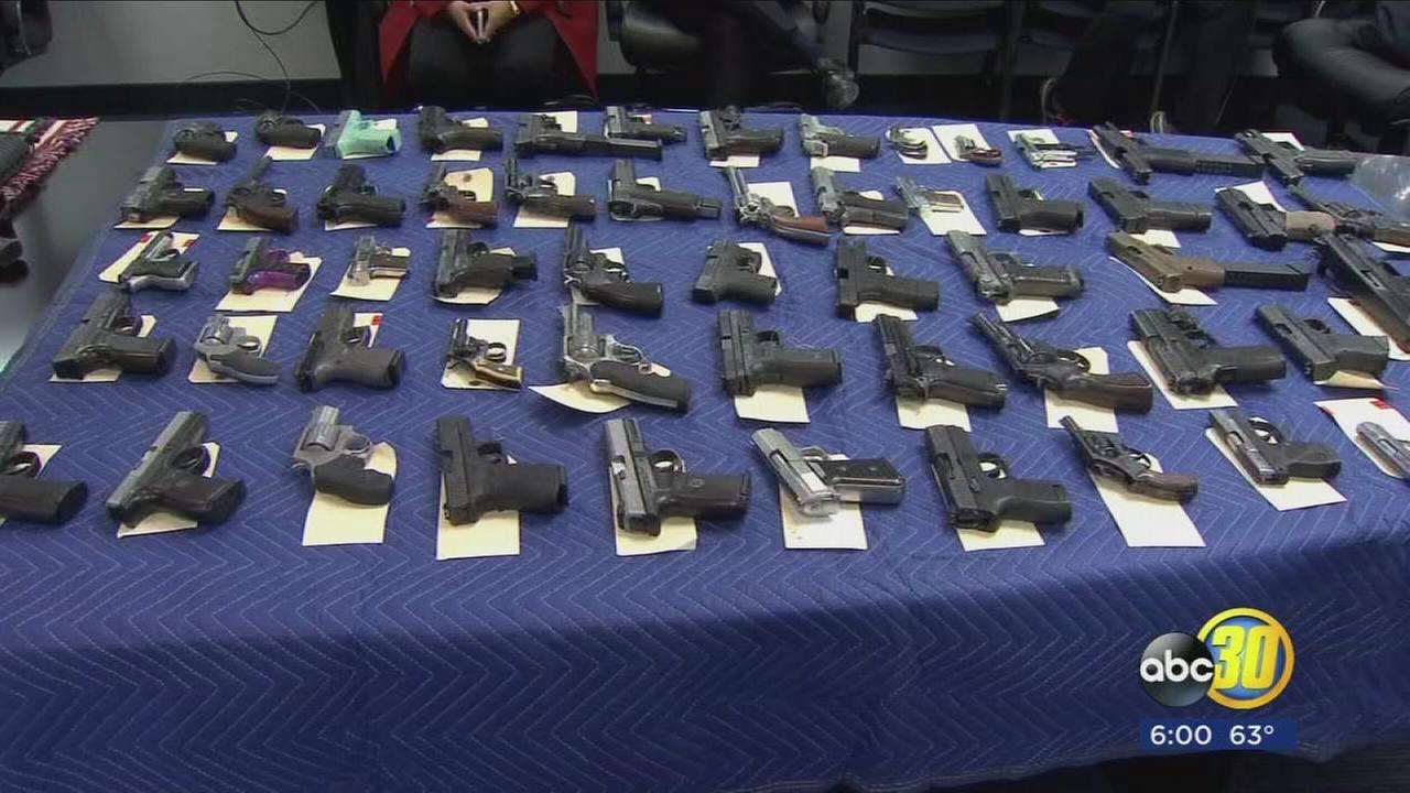 Fresno Police sweep the streets for guns