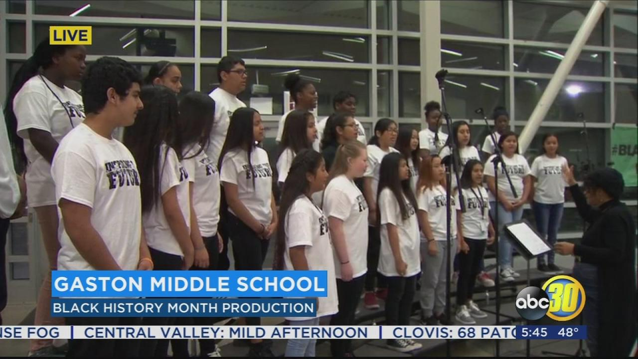 Students in Fresno prepare for a big performance in honor of Black History Month