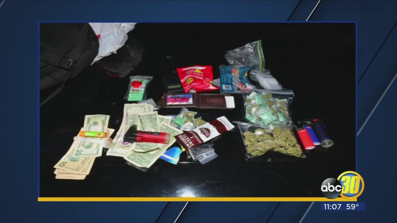 Fresno Police arrest man who was caught jaywalking after finding he was carrying drugs