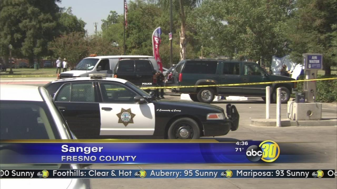 Body found in car outside Sanger convenience store