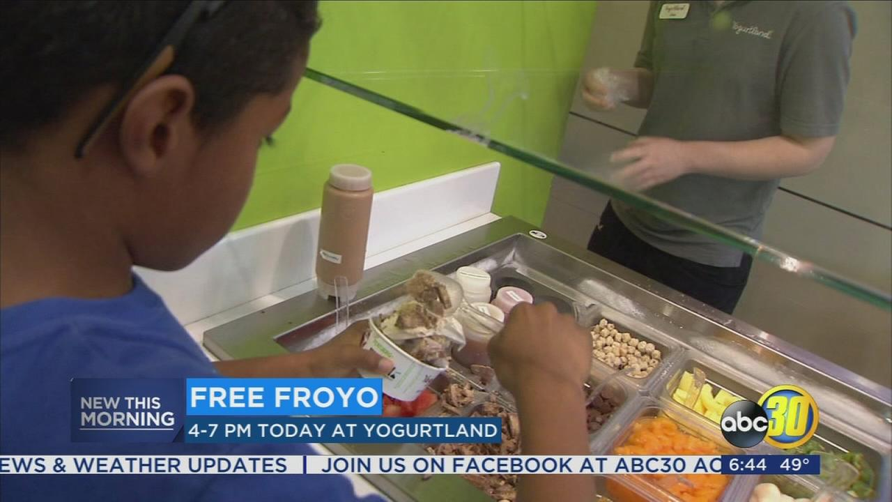 Yogurtland giving away free Fro-Yo for National Frozen yogurt Day