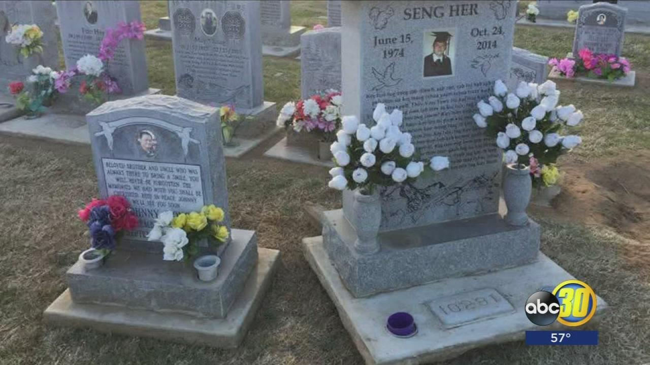 Hmong families upset after photos surfaced online showing displaced headstones at cemetery