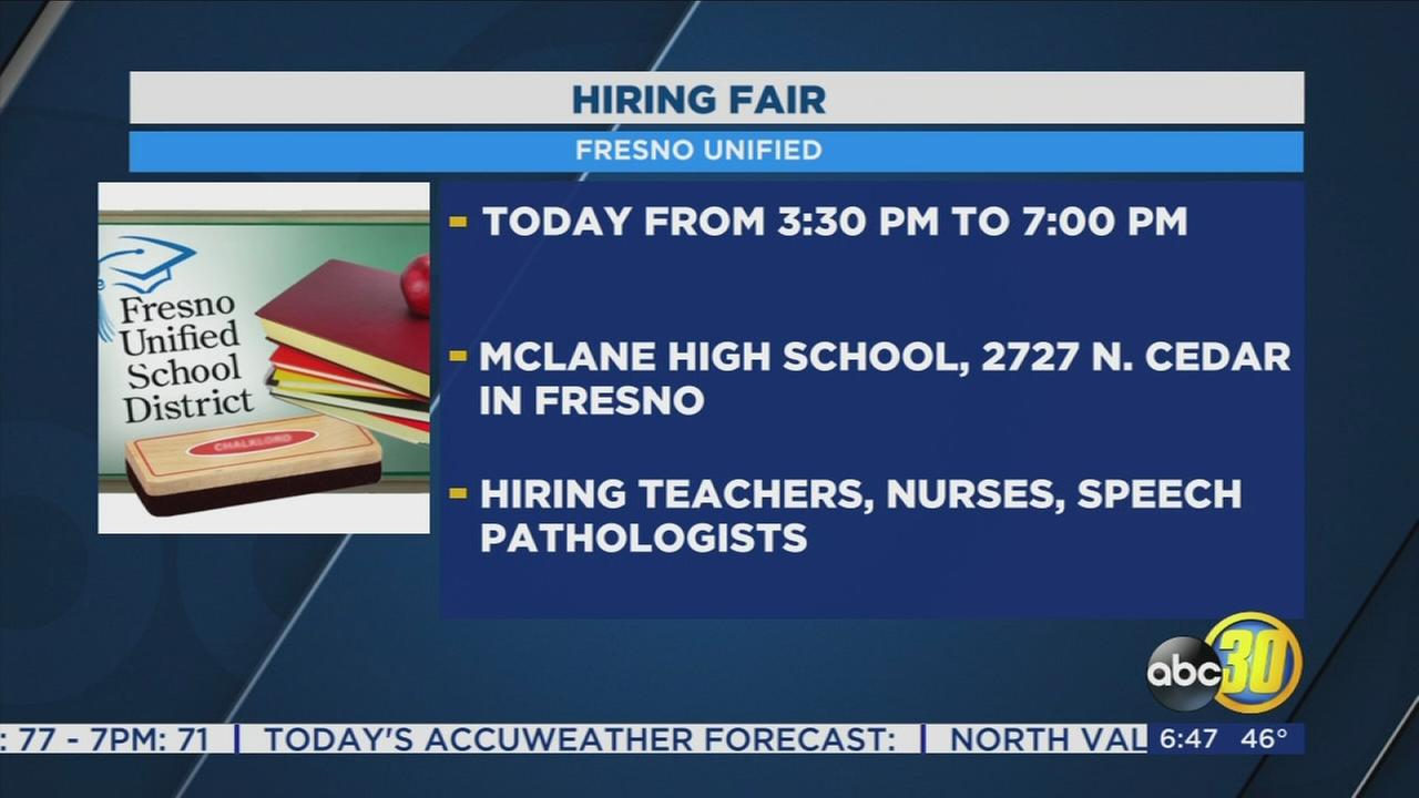 Fresno Unified holding job fair