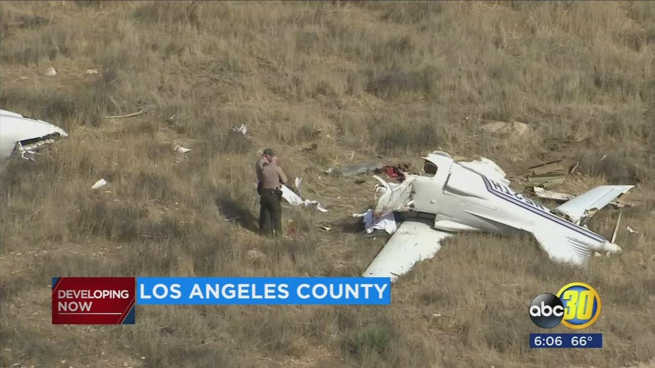 1 child, 3 adults killed when small plane crashes in SoCal, authorities say