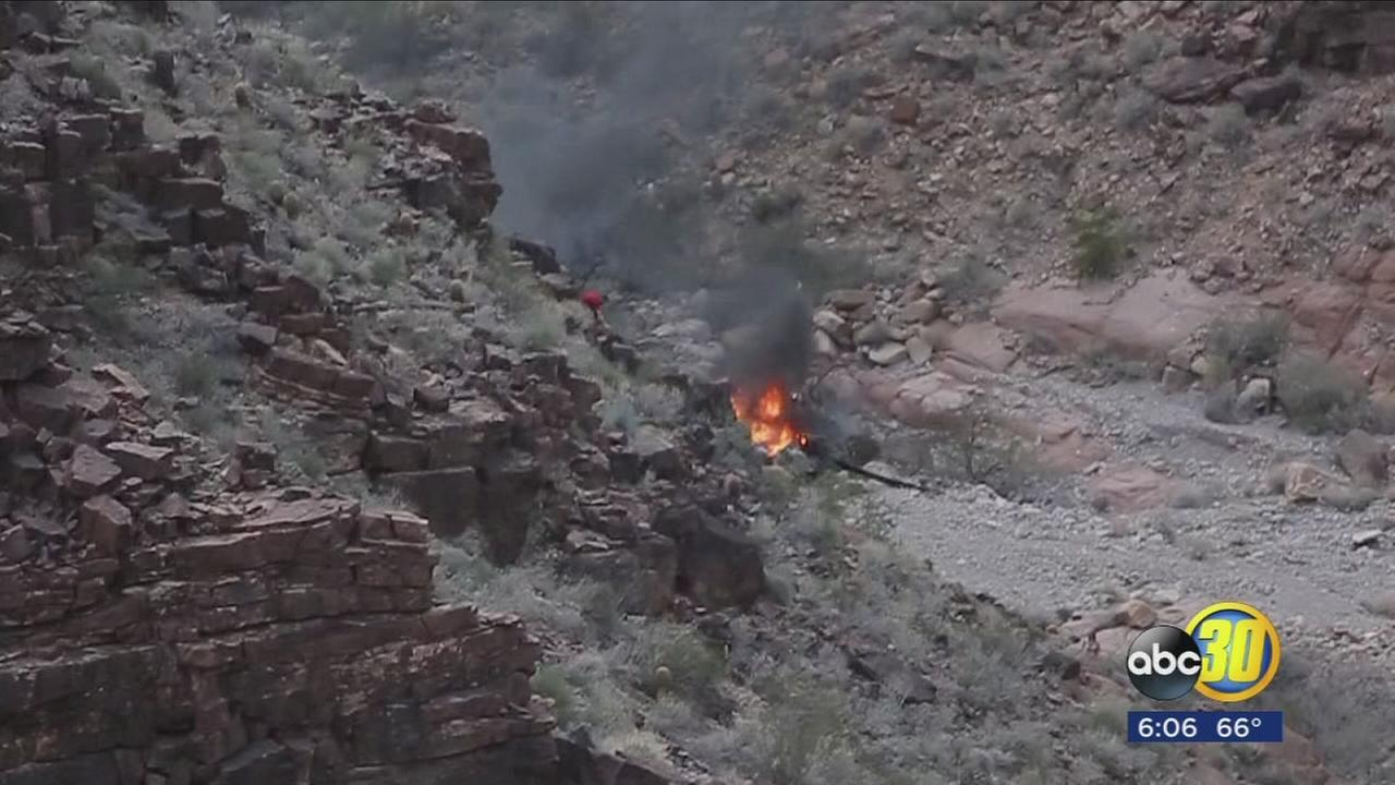 Witness describes seeing survivor walk out of flames of Grand Canyon chopper crash