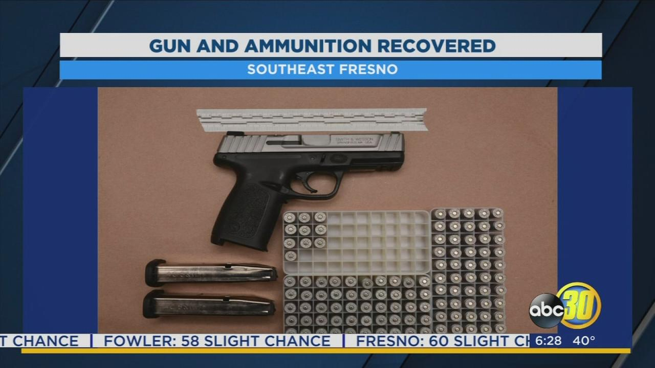 Fresno PD find gun used in shooting after serving warrant at home in Southeast Fresno