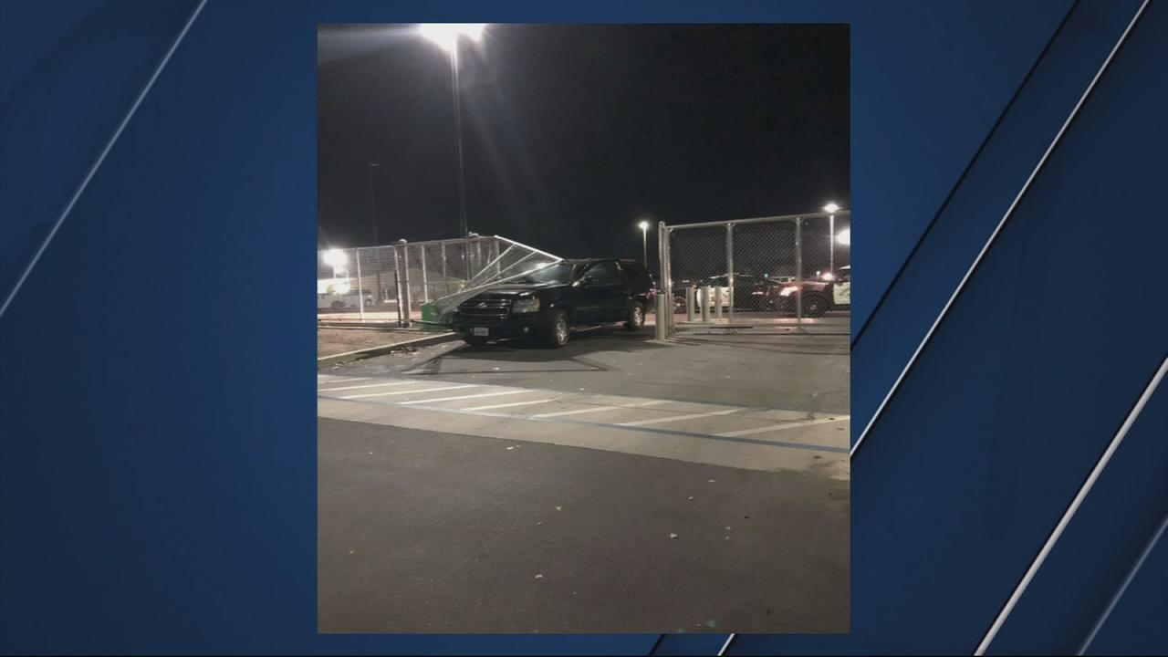 CHP arrest man who crashed into a gate at the Madera County Jail