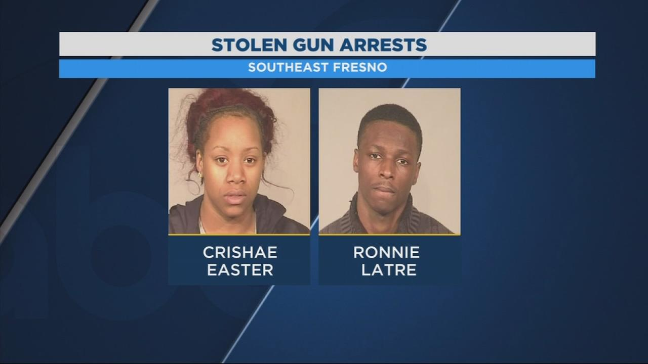 2 people arrested in Southeast Fresno after police recover drugs and a stolen handgun