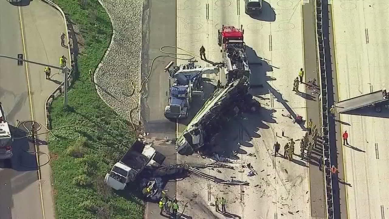 10 Freeway back open in Rialto after Deadly truck crash