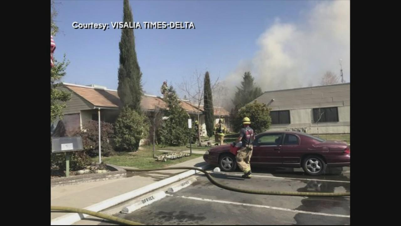 Fire officials investigate fire at senior living home in Visalia