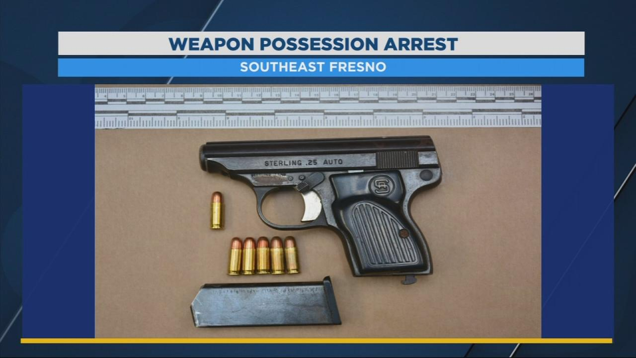 14 year old gang member arrested with gun in Southeast Fresno