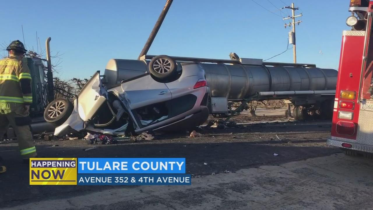 One dead after SUV and big rig head-on in Tulare County