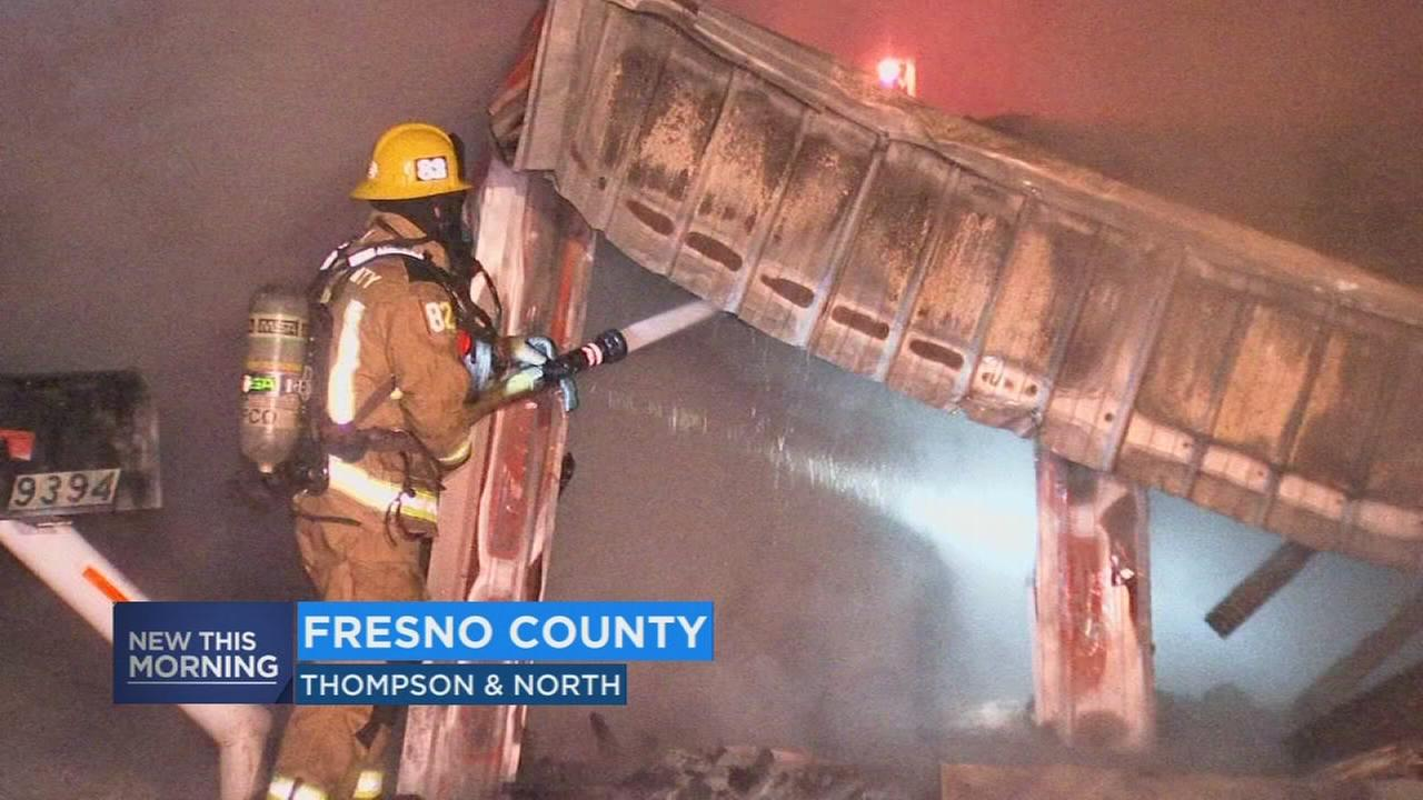 Fruit stand goes up in flames on Fresno County Blossom Trail