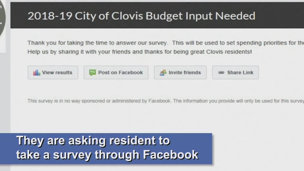 City of Clovis is turns to social media for input on their budget