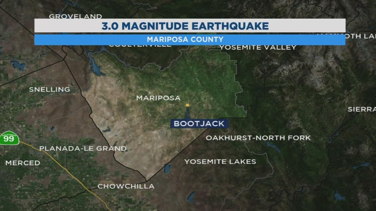 3.0 earthquake shakes up Mariposa County