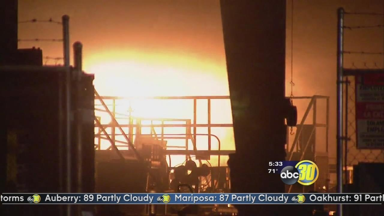 Fire burns storage facility in Ivanhoe
