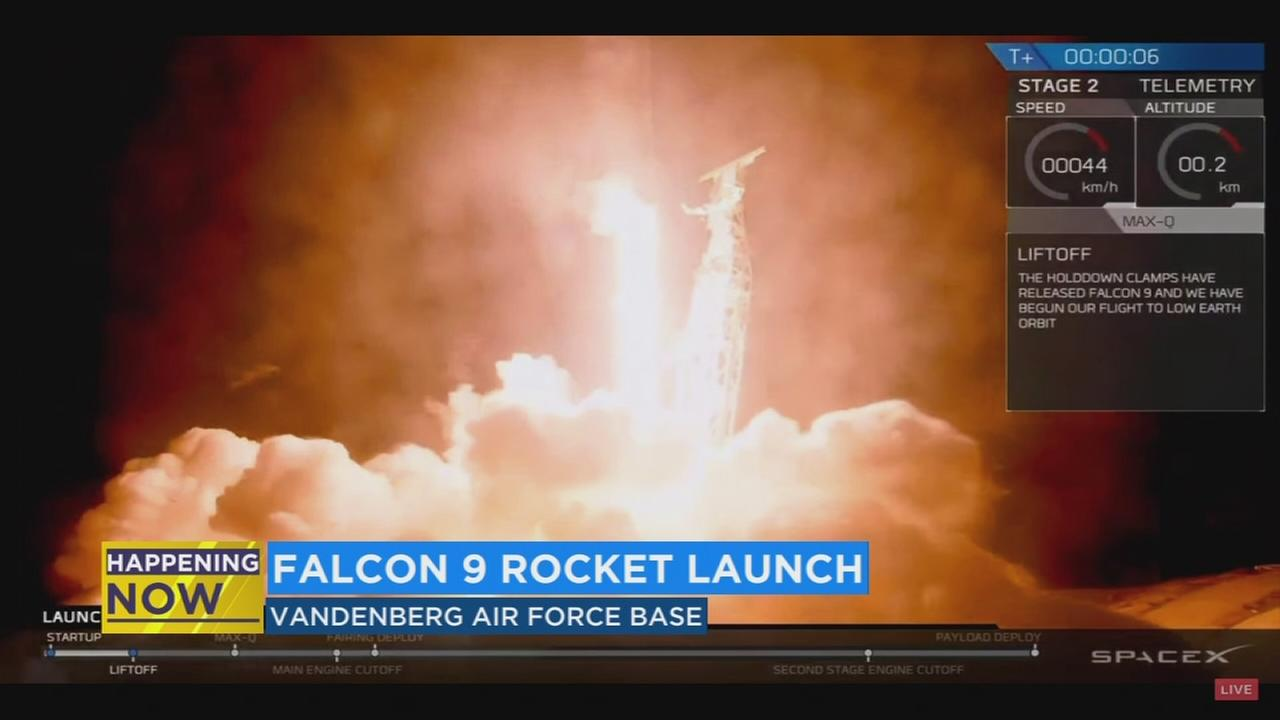 All systems are a go for Space-Z as the launch Falcon 9 rocket into space