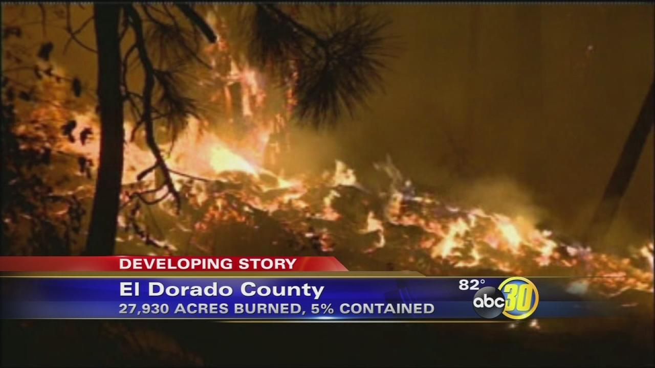 El Dorado County wildfire threatens more than 2,000 homes