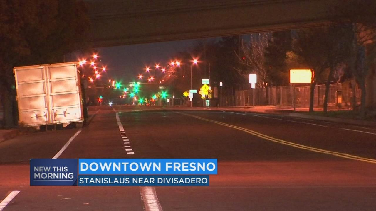 Section of Downtown Fresno street closed due to High-Speed Rail Project