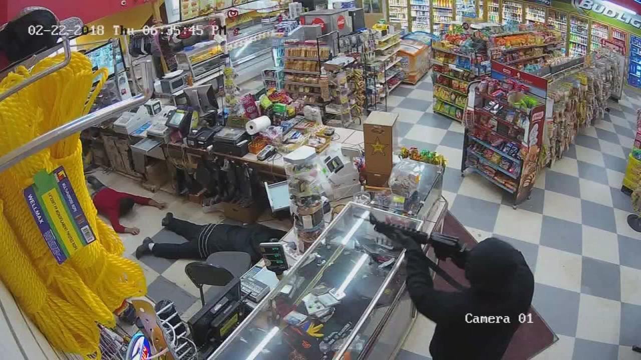Helm market robbery caught on camera