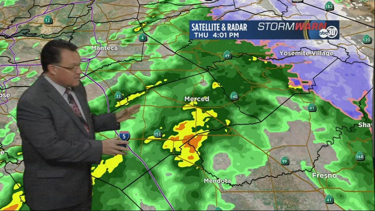 Strong winter storm brings widespread rainfall across the Valley